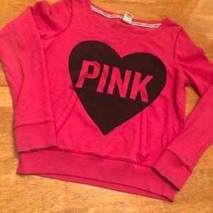 Pink sweatshirt with kangaroo pocket very cute M